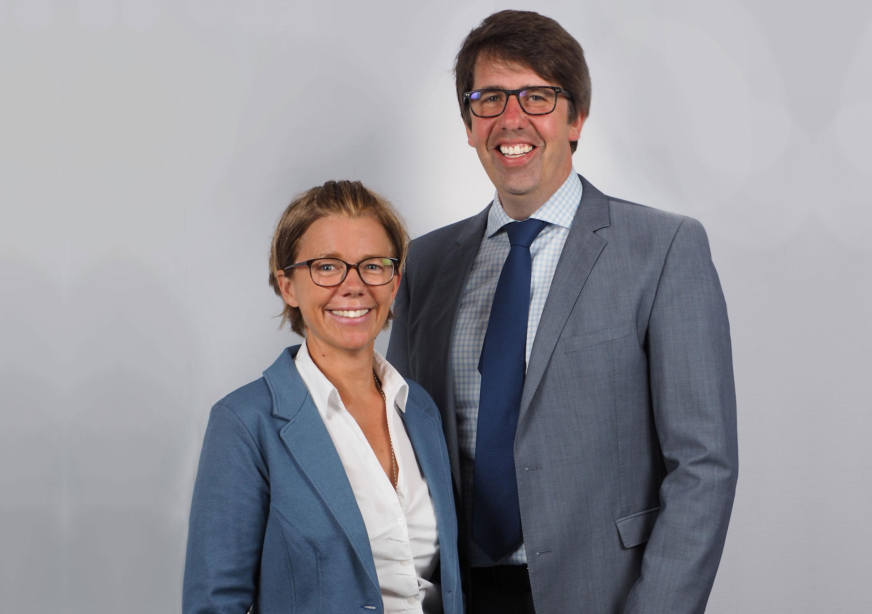 Die Geschäftsführer Simone Schroers und Christian Schulte